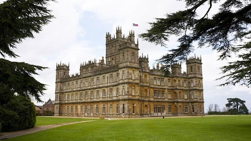 View of Highclere Castle in Hampshire
