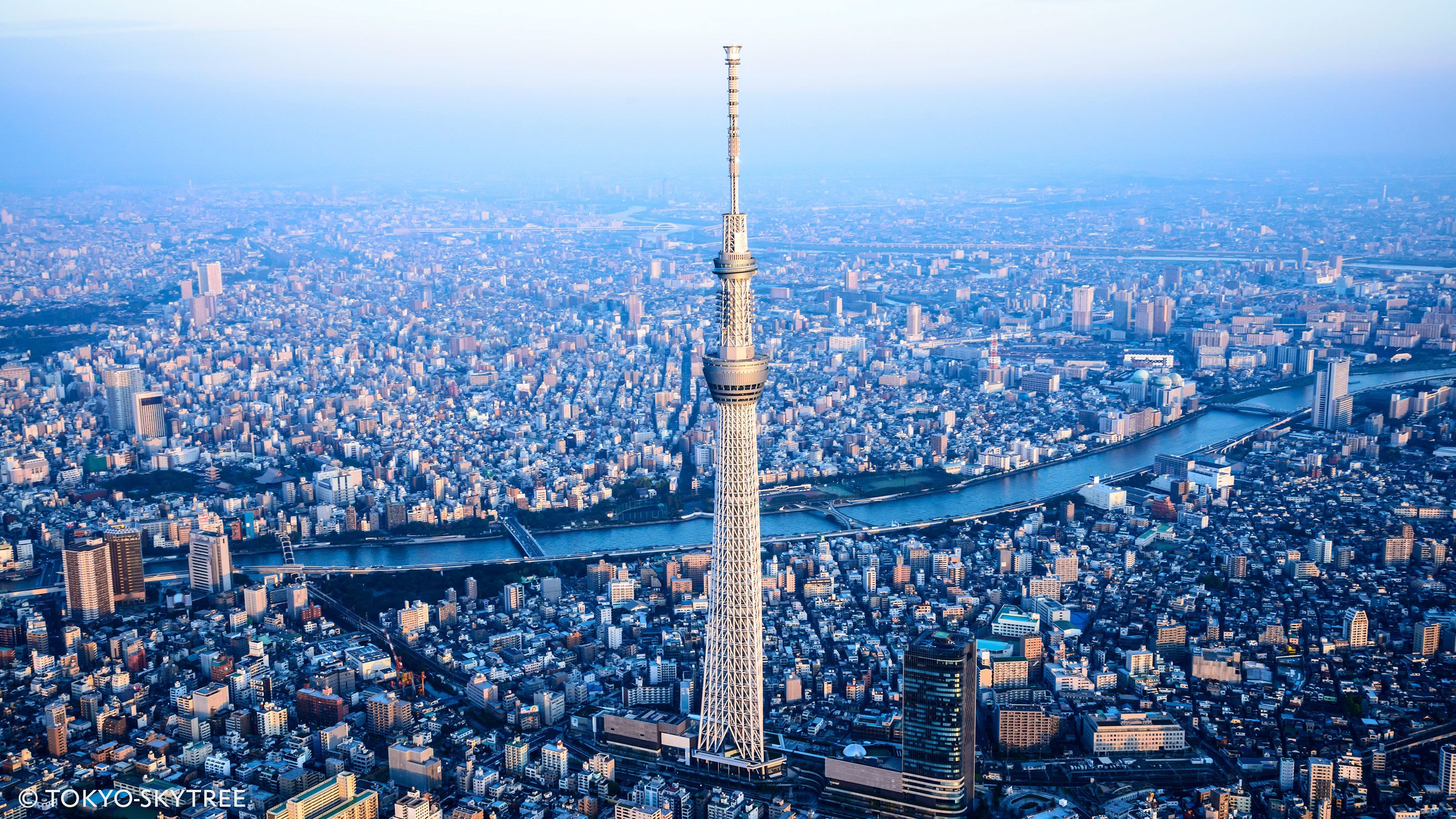 Ariel image of Skytree in Tokyo