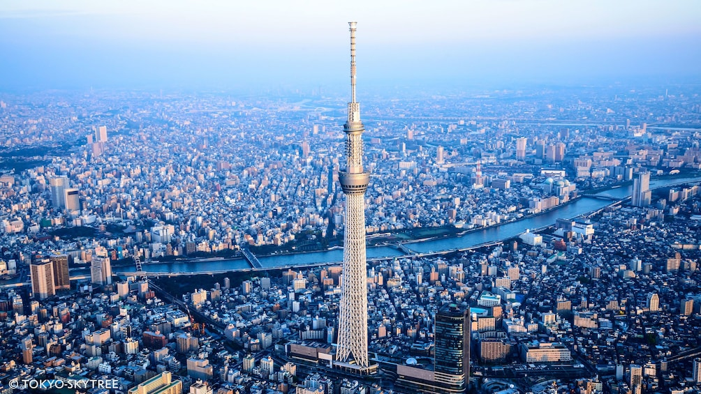 Show item 1 of 5. Ariel image of Skytree in Tokyo