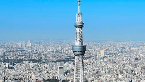 View of observation deck of Skytree in Tokyo