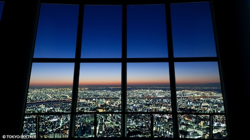 View of Tokyo at night from Skytree in Tokyo