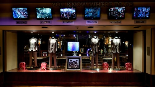 The Beatles display at the Hard Rock Cafe in New York