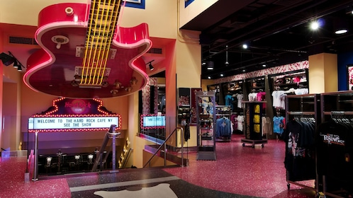 Hard Rock Cafe gift shop in New York