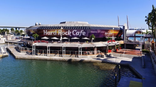 The Hard Rock Cafe at the bay in Miami