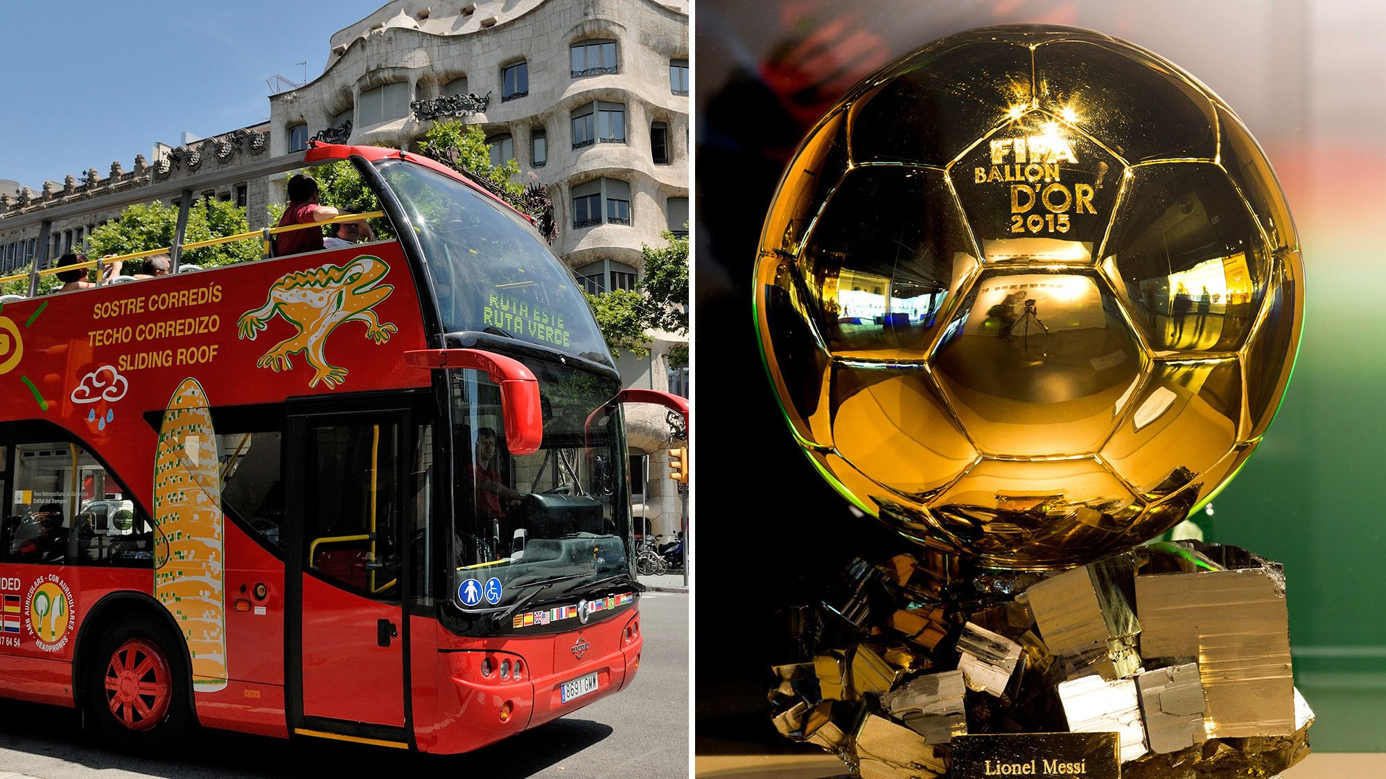 Hop-on-Hop-off-Bustour durch Barcelona und Tickets für Camp Nou