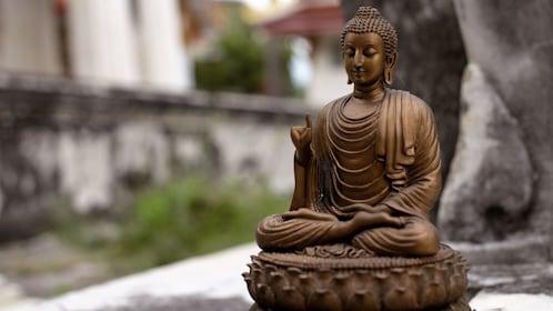 Bronze buddha sculpture in Bangkok