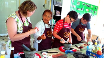 Small-Group Thai Cooking Class & Organic Herb Garden Tour