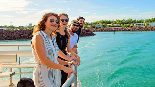 Group of people on a cruise boat in Darwin, AU