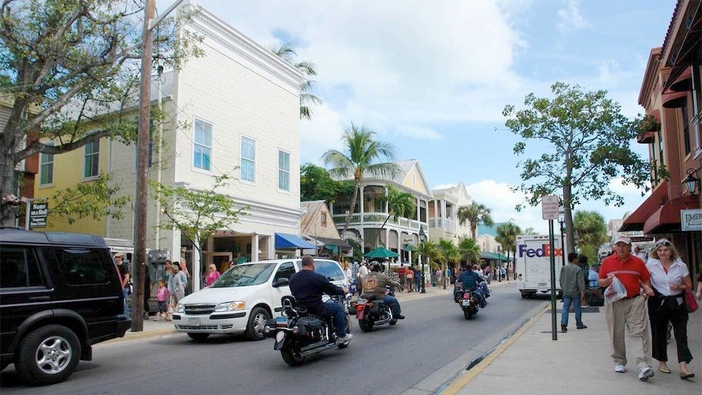 Tourists in Key West