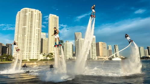 Group on the Flyboard activity in Miami