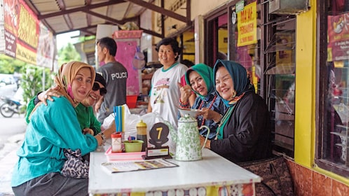 Group on the Local Food Tour in Yogyakarta
