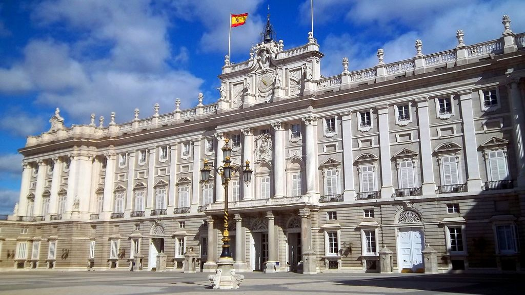 Exterior of Royal Palace in Madrid