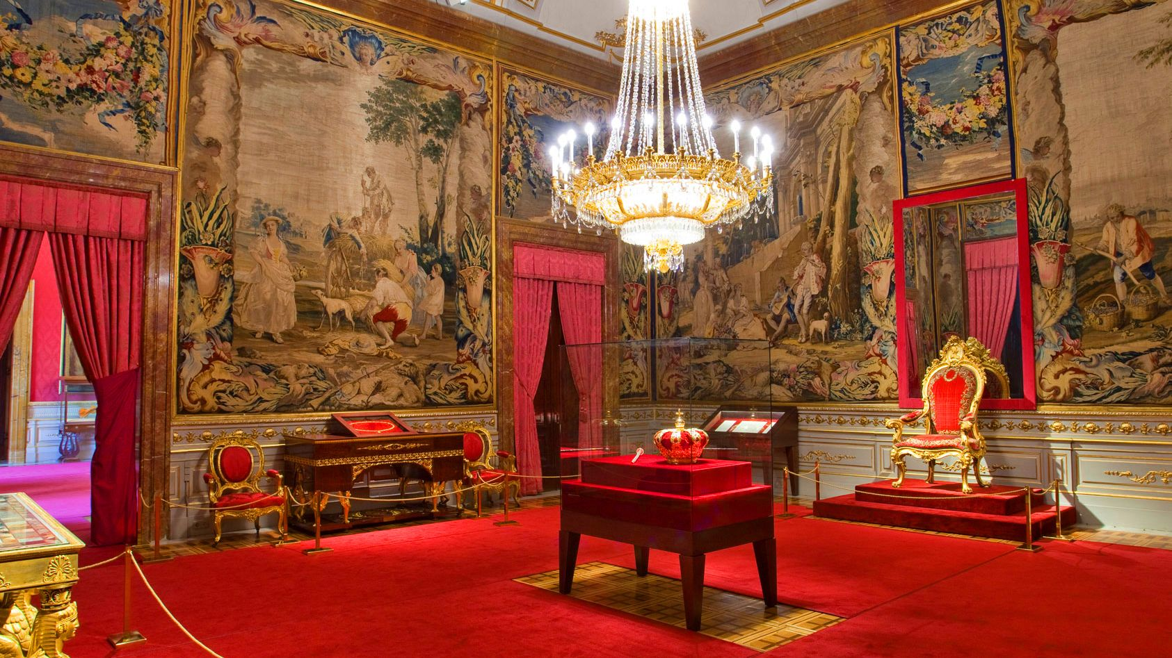 Inside Royal Palace in Madrid