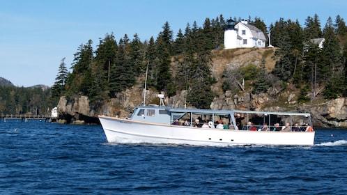Sea Princess cruises through calm waters around Acadia National Park in Maine