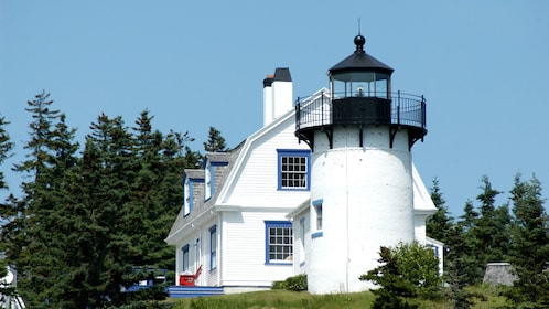 Bear island lighthouse during cruise in Maine