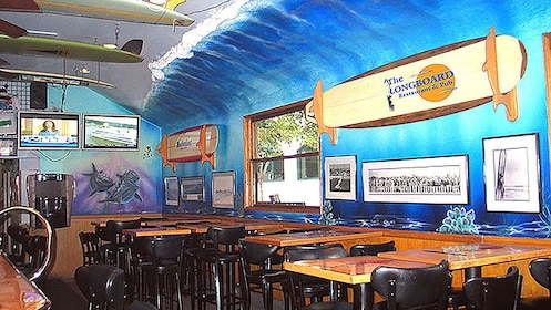 Interior of The Longboard Restaurant and Pub in Huntington Beach