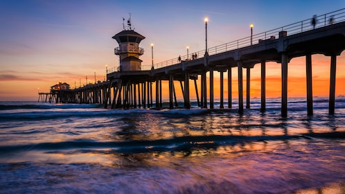 Pier at sunset in Huntington Beach