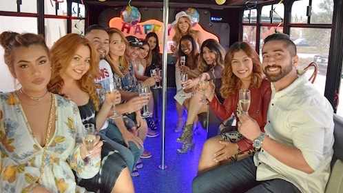 Group enjoying wine on the Wine Tour in Orange County, CA