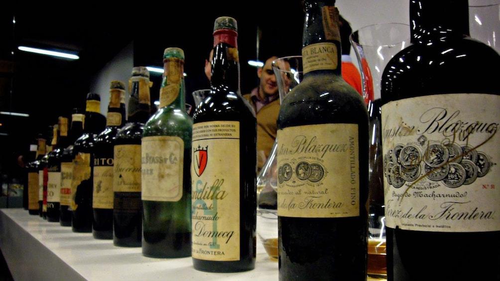 Show item 2 of 10. Bottles of wine at a vineyard in Seville