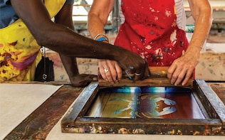 Immerse yourself in this premium SeaLink Tiwi Islands art &