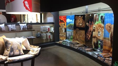 Inside gift shop at lion park in Johannesburg