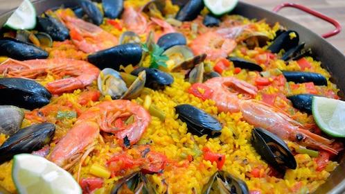 Dish of paella in Valencia