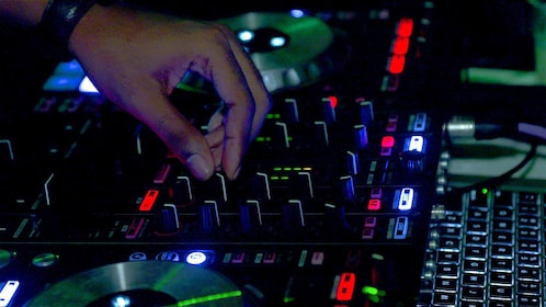 DJ mixing songs