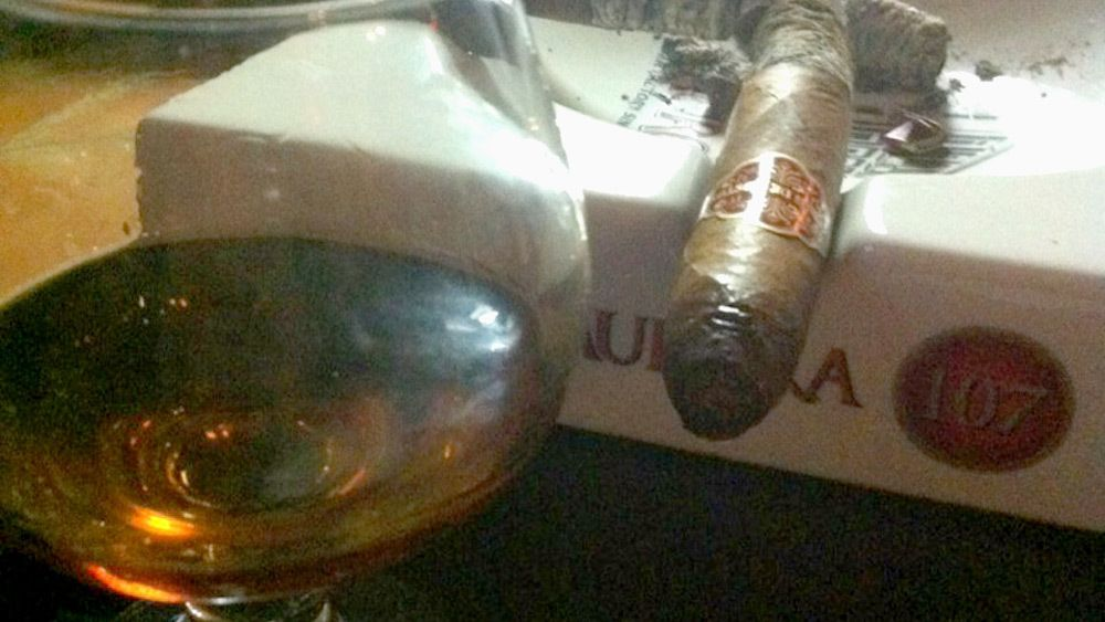 Cigar and snifter of Rum