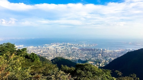 View from the Kobe mountains in Japan