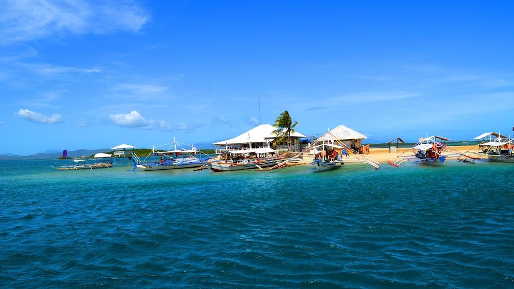 Boats off the coast of Cebu, Philippines