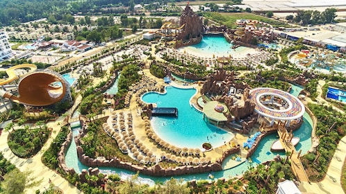 Ariel view of Land of Legends theme park in Antalya