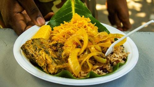 Street food on walking tour in Costa Rica