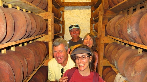 Tour group in a Wine Cellar