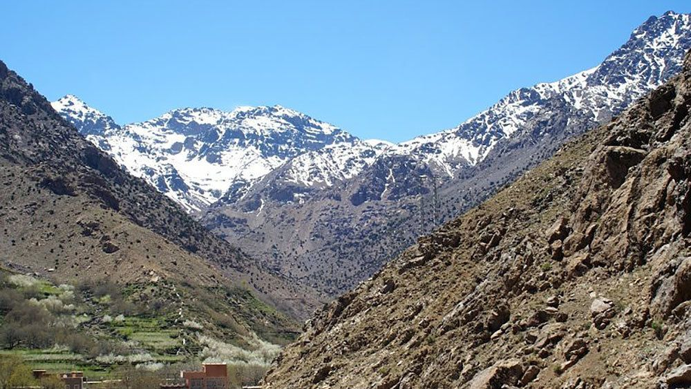 View of Atlas Mountains in Marrakech