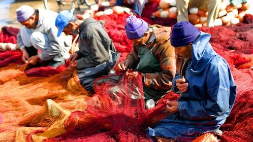 Men making fishing nets