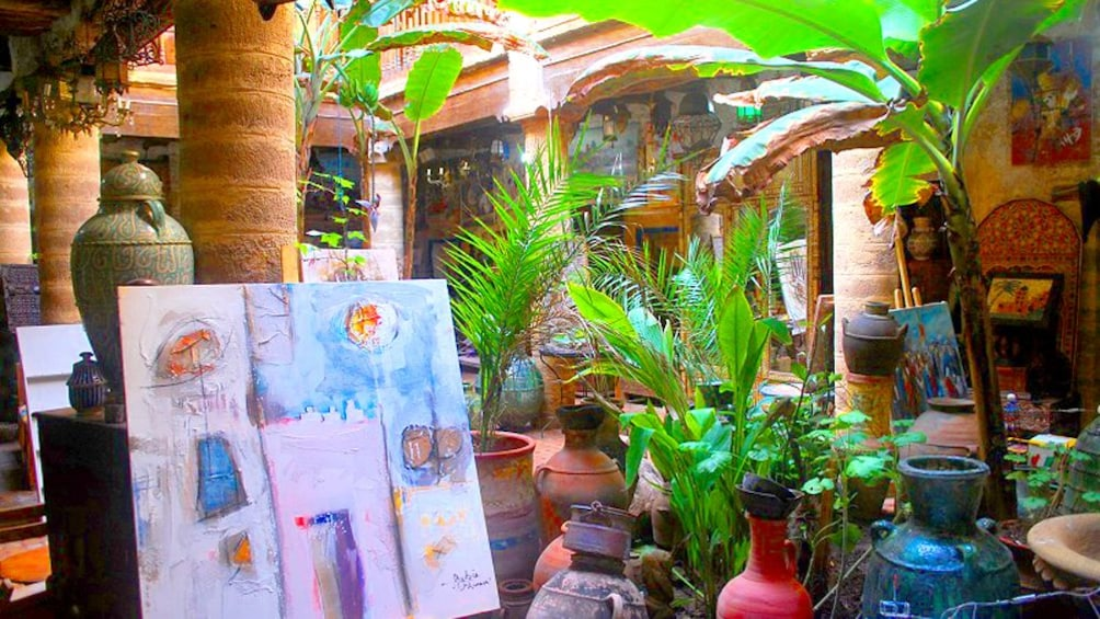 Street gallery in Marrakech