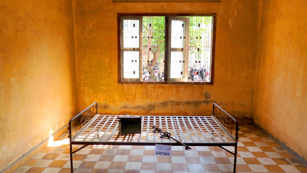 Cell in Cell Block S21 in Phnom Penh