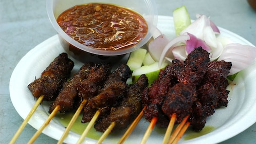 Kabobs from street vendor in Penang