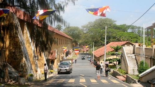 Street outside Galle Fort in Sri Lanka
