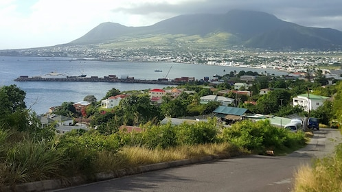 View of the coast in St Kitts