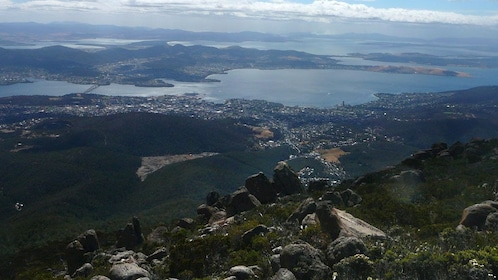 View from Mt Wellington in Australia
