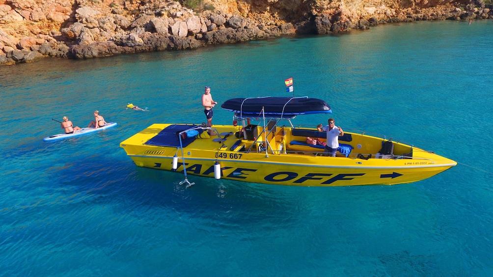 Show item 1 of 4. Speedboat off the coast of Ibiza