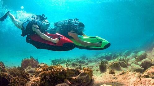 SCUBA divers in Ibiza waters