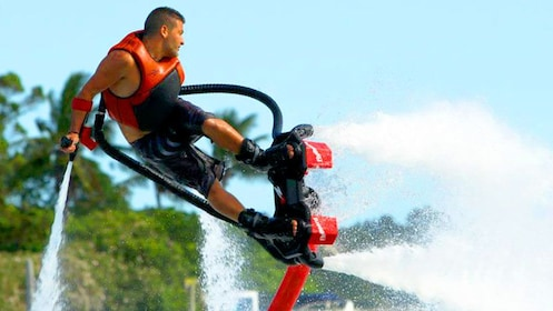 Person on a Flyboard doing a trick