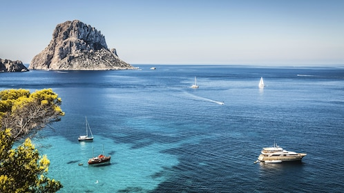 Overview of bay in Ibiza