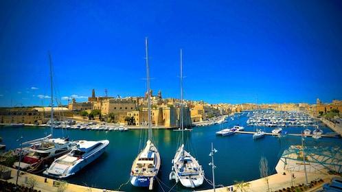 Boats docked in Malta