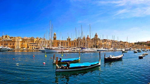 Boats in the waters of Malta