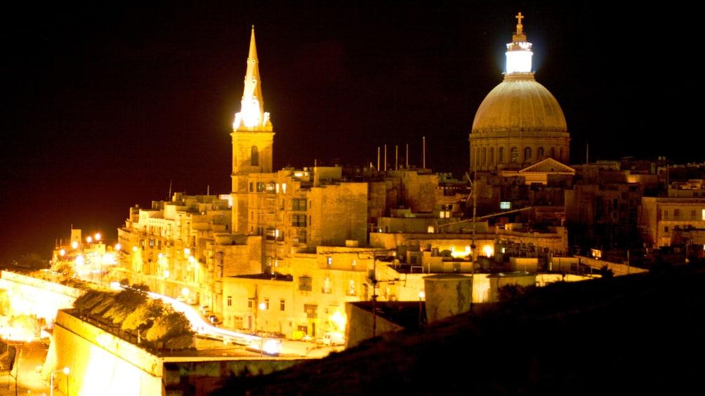 Show item 2 of 5. Night in Valletta, Malta