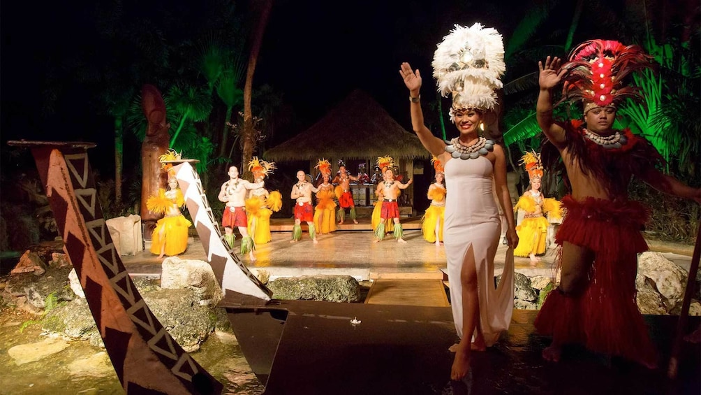 Show item 5 of 5. Performance at the Polynesian Dinner Show in Guam