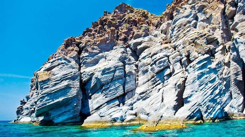 Close up view of the Rocks on Nisyros Island in Greece